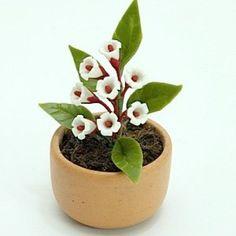 Miniature Polymer Clay Flowers Supplies for Dollhouse Yucca Flowers | minihandmade - Dolls & Miniatures on ArtFire