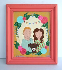 Custom Family Portrait 8 x 10 by 3BearsStudio on Etsy