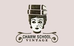 Charm School Vintage logo by Bryan Keplesky by consuelo