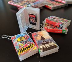 """Maxgames """"Card Pocket Mini"""" Keychain Cases for Nintendo Switch Cartridges — Tools and Toys Mini Things, Cool Things To Buy, Nintendo Switch Case, Nintendo Switch Accessories, Mundo Dos Games, Video Game Rooms, Kawaii Room, Game Room Design, Gamer Room"""