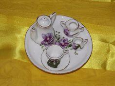 A miniature tea set. by ByGoneEraEmporium on Etsy