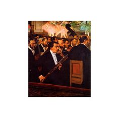 Orchestra at the Opera Giclee Print Wall Art ($29) ❤ liked on Polyvore featuring home, home decor, wall art, artists-edgar degas, degas posters, giclee wall art and opera posters