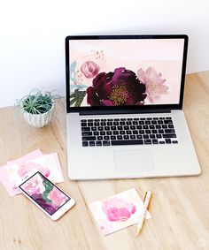Put some spring in your tech with these bold, gorgeous floral designs from Hallmark artist Ken S. featured as digital wallpapers on Designlovefest.