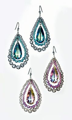 Earrings with SWAROVSKI ELEMENTS - Fire Mountain Gems and Beads --Free turorial!!