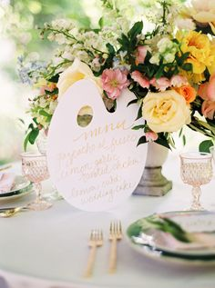 art inspired wedding - photo by Jessica Gold Photography http://ruffledblog.com/watercolor-garden-wedding-inspiration