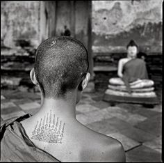 In Thailand, tattoos often combine Buddhist religious symbols with animistic forest or animal images.