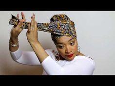 ✿ Afro Scarf & HeadWraps & Make up & Turban & Hat Easy Head Wrap Tutorial Hair Wrap Scarf, Hair Scarf Styles, Turban Tutorial, Hijab Tutorial, Head Wrap Tutorial, Mode Turban, Turban Hat, Twa Styles, African Head Wraps