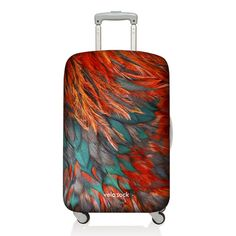Fancy - Red Bird Luggage Cover by Velo Sock