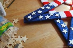4th of July Yarn and Yardstick Star