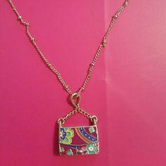 Vera bradley charmbag necklace Vera Bradley charm bag necklace Vera Bradley Jewelry Necklaces