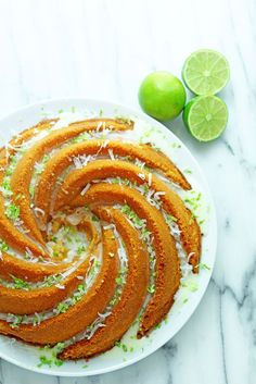 A classic bundt gets a tropical update. This key lime coconut pound cake combines fantastic citrus flavors with the subtle intensity of coconut.
