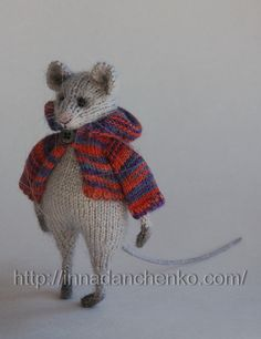 Knitted Mouse Toy Soft Sculpture - made to order by InnaDanchenkoArt (40.00 EUR) http://www.etsy.com/listing/168683647