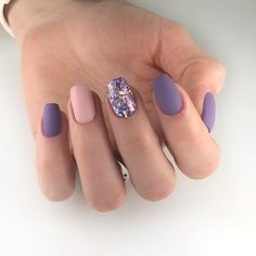 20 Inspirational Nail Art Designs for Short Nails Nails Designs Acrylic nails Elegant Nails, Classy Nails, Stylish Nails, Trendy Nails, Nail Art Designs, Short Nail Designs, Nails Design, Purple Nails With Design, Purple And Pink Nails