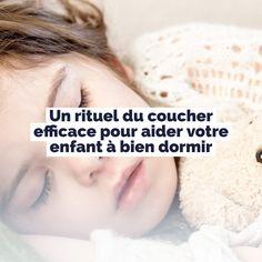 Stéphanie Couturier, thérapeute psychomotricienne et sophrologue, nous suggère un rituel du coucher efficace pour faciliter l'endormissement des enfants.