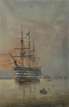 HMS 'Victory'   by Henry J. Morgan National Maritime Museum      Oil on canvas