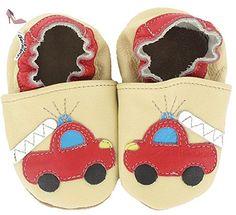 HOBEA-Germany Krabbelschuhe Feuerwehr, Chaussures Bébé quatre pattes (1-10 mois) mixte bébé - Beige (sand), 24/25 EU - Chaussures hobea germany (*Partner-Link)