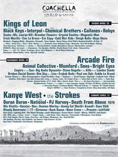 Coachella 2011 Lineup Revealed | News | Pitchfork