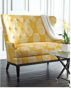I need one of these in my craft room. Anything vintage in the yellow/mustard color palat. Ohhh....velvet.....!?!?!?!