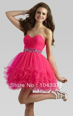 Red Blue Crystals Beaded Ball Gown Sweetheart Tulle Short 8th grade graduation dresses 2013 Cocktail and Homecoming Dress-in Homecoming Dresses from Apparel & Accessories on Aliexpress.com