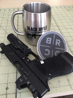 The only way to get work done sometimes. And a sticker to mark your territory. #Coffee #BlackRifleCoffee
