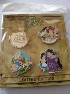 Disney Walt's Classic Collection ~ Alice In Wonderland Pin Set
