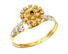 Anel de formatura administração de empresa  em ouro 18k 750 com 22 diamantes de 1 ponto cada 1 pedra natural centro