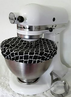 Standmixer Bowl cover/Kitchenaid/Black&White by EmbellishedbyBev
