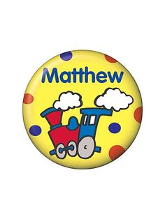 Train Party Personalized Mini Button