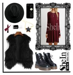 """""""Shein Contest - Wine Red Dress"""" by by-jwp ❤ liked on Polyvore featuring Essie, contest, contestentry and shein"""