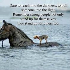 Strong believe in standing up for others