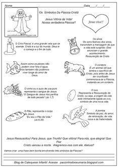 Pãozinho do Céu: Os Símbolos da Páscoa - Catequese