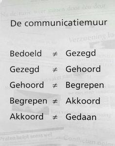 De communicatiemuur: misverstanden in de communicatie.