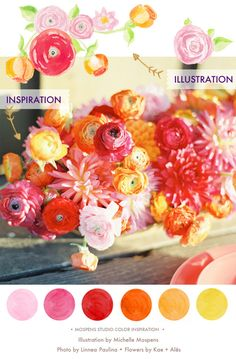 love these bright colors for spring just needs a light blue or mint color