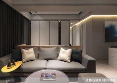 乾淨的背景與用色,透過燈光來提點空間質感。