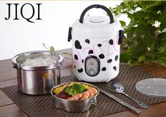 mini rice cooker lunch box 1L capacity 220V input  suited for 1-2 people can stew soup heating lunch kitchen cooker