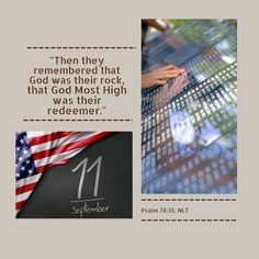 As we pause to remember and reflect on the sacrifices and lives lost on September 11, 2001, we also remember that God is our rock and redeemer. May we be God's healing and peace to many who mourn today. #NLTBible #September11th #WeRemember #Sacrifice #Peace #Memorial #Mourn #Reflect
