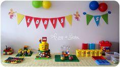 Jeux, goûter et invitation pour un anniversaire Lego