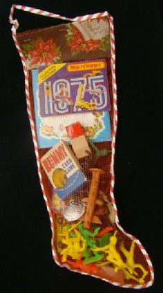 Christmas Stocking Dept Store With Assorted Toys 1975