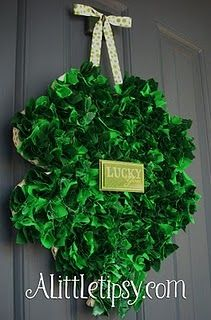 Lovely shamrock wreath