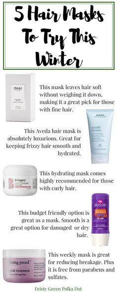 5 Hair Mask You Must Try This Awful winter weather can leave your hair in a mess. Get your pretty hair back with a hair mask. Check out  these five hair masks. Winter | Hair Treatment | Repair Damaged Hair | Aveda | Aussie | Living Proof #hairmask #haircare