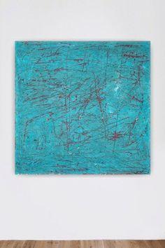 Große abstrakte Malerei Leinwand Kunst blaugrün blau Türkis Rote Wand Kunst große Gemälde riesige Gemälde zeitgenössischer minimalistisch modern