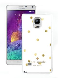 Amazon.com: 2015 Protective Kate Spade Samsung Galaxy Note 4 White Phone Case 014: Cell Phones & Accessories