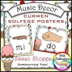 Music Decor - SWEET SHOPPE - Curwen Solfege Hand Signs, Di