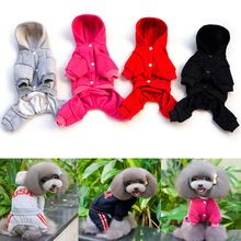 Stylish Cute Pet Dog Clothes Puppy Cat Hoodie Cotton Coat Four Leg Sweatshirt Jacket(China (Mainland))