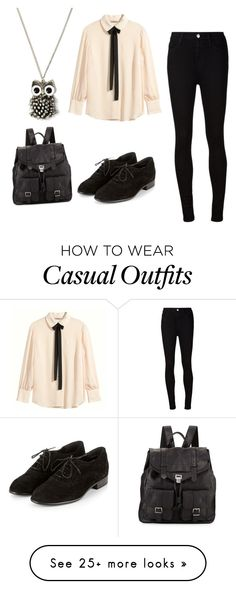 """Casual chique"" by liesje-2002 on Polyvore featuring H&M, AG Adriano Goldschmied and Proenza Schouler"