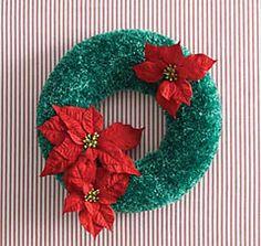 Ravelry: Christmas Wreath (crochet) pattern by Bernat Design Studio