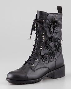 Rosette Combat Boot