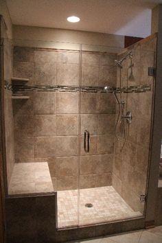 Bath and Shower Tile Designs To Your Home - Inspira Mode Master Bathroom Shower, Bathroom Renos, Laundry In Bathroom, Bathroom Layout, Bathroom Interior Design, Bathroom Renovations, Modern Bathroom, Small Bathroom, Home Remodeling