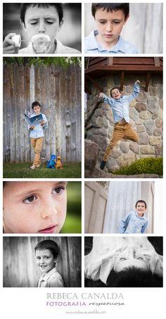 Sesión de fotos parque niño fotografia