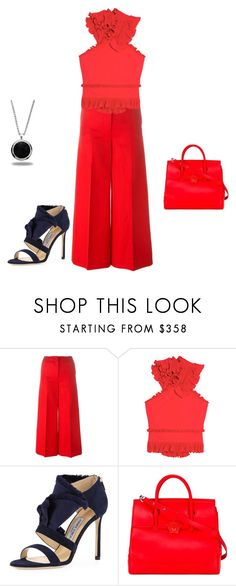 """Untitled #11370"" by explorer-14576312872 ❤ liked on Polyvore featuring Sonia Rykiel, Antonio Berardi, Jimmy Choo, Versace and Marlin Birna"
